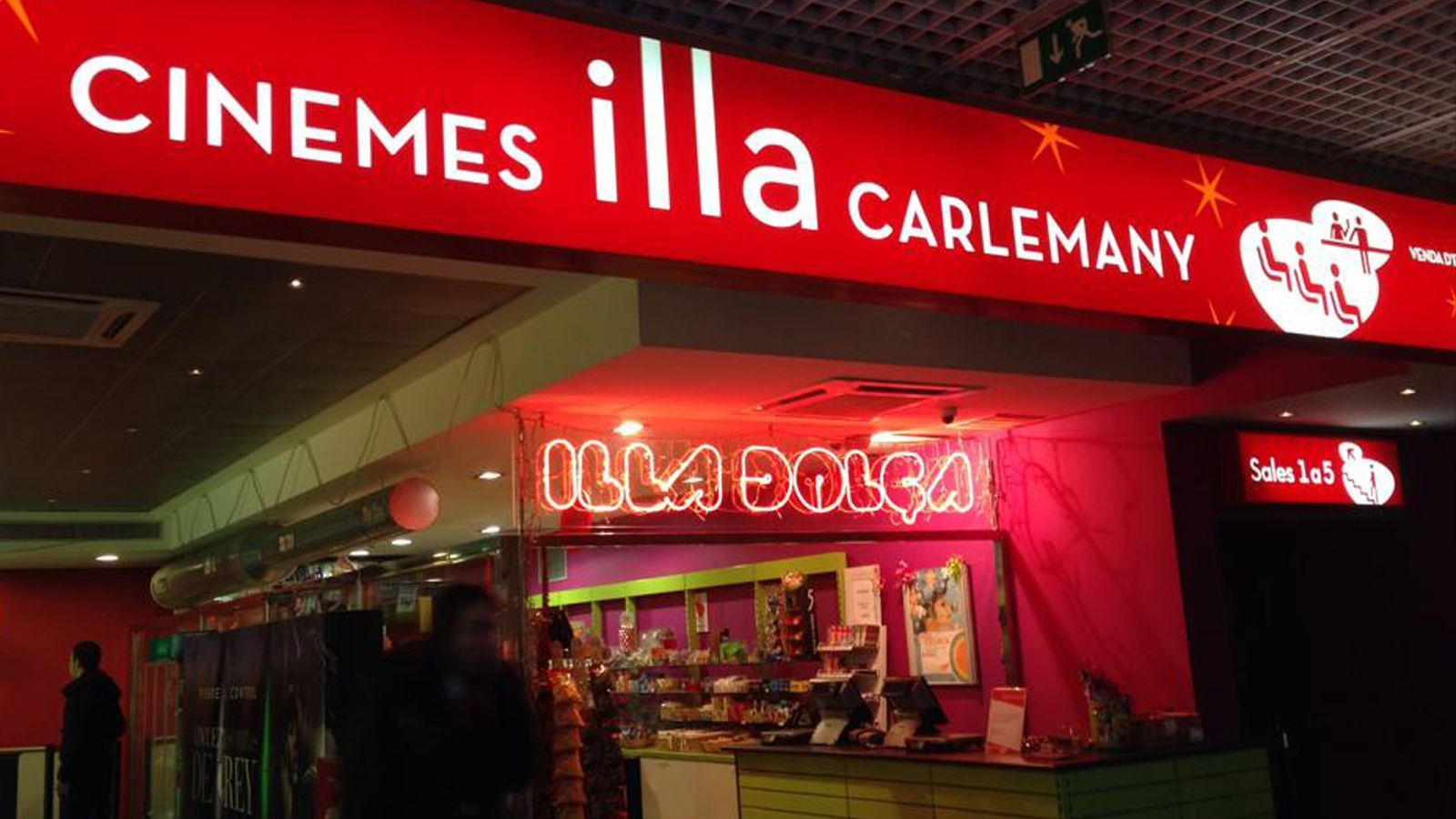Els cinemes illa Carlemany. / ARXIU