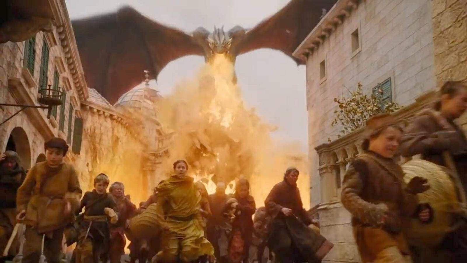 Daenerys Targaryen destrueix Desembarcament del Rei