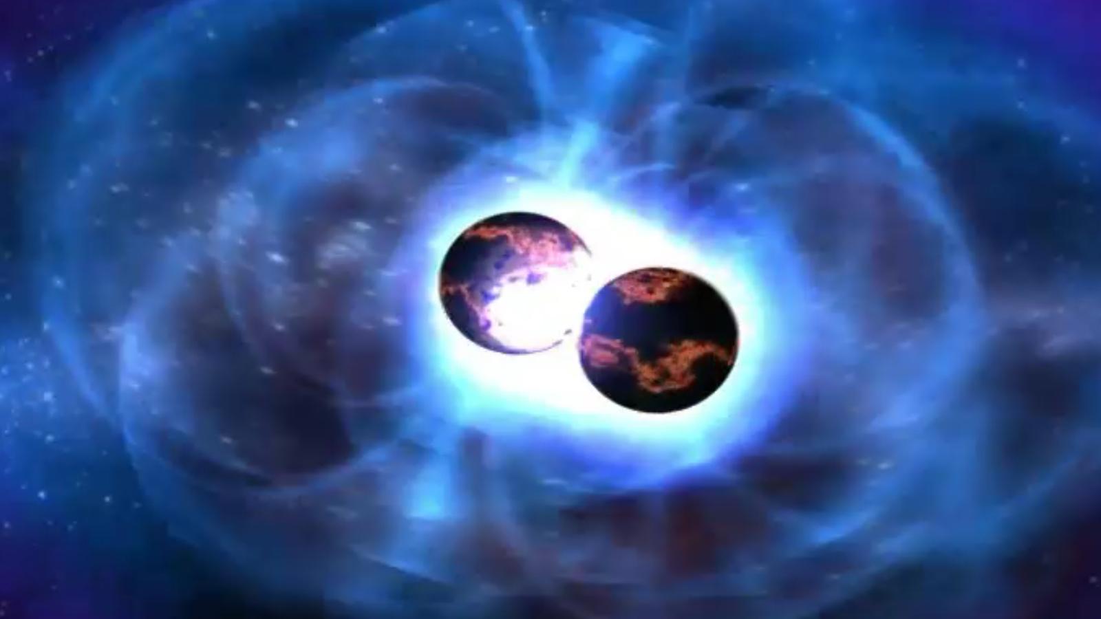 Moment de la fusió d'estrelles de neutrons obre una nova època de l'astronomia