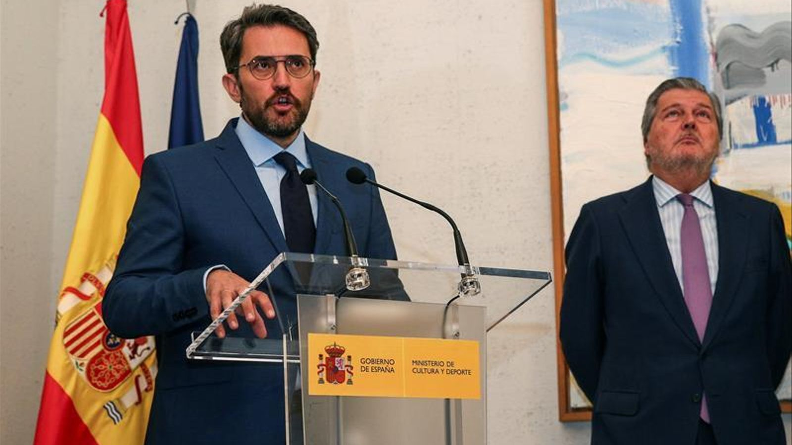 Màxim Huerta dijous passat durant el traspàs de carteres al ministeri de Cultura. EFE