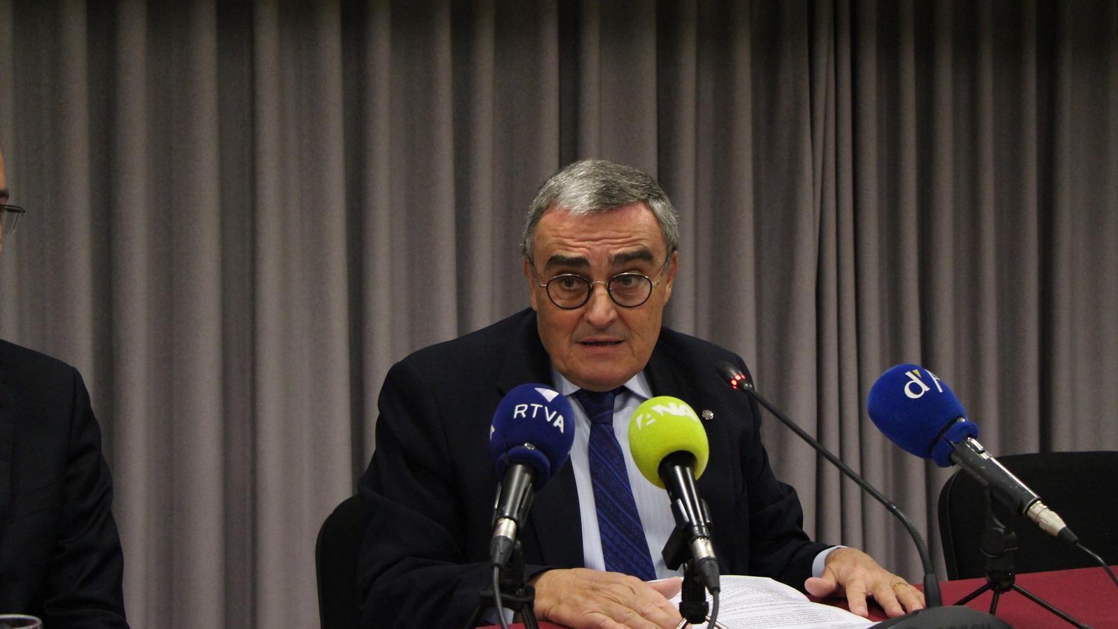 Àngel Ros creu que el nomenat de Borrell és positiu per la negociació d'Andorra amb la UE. / A.S.