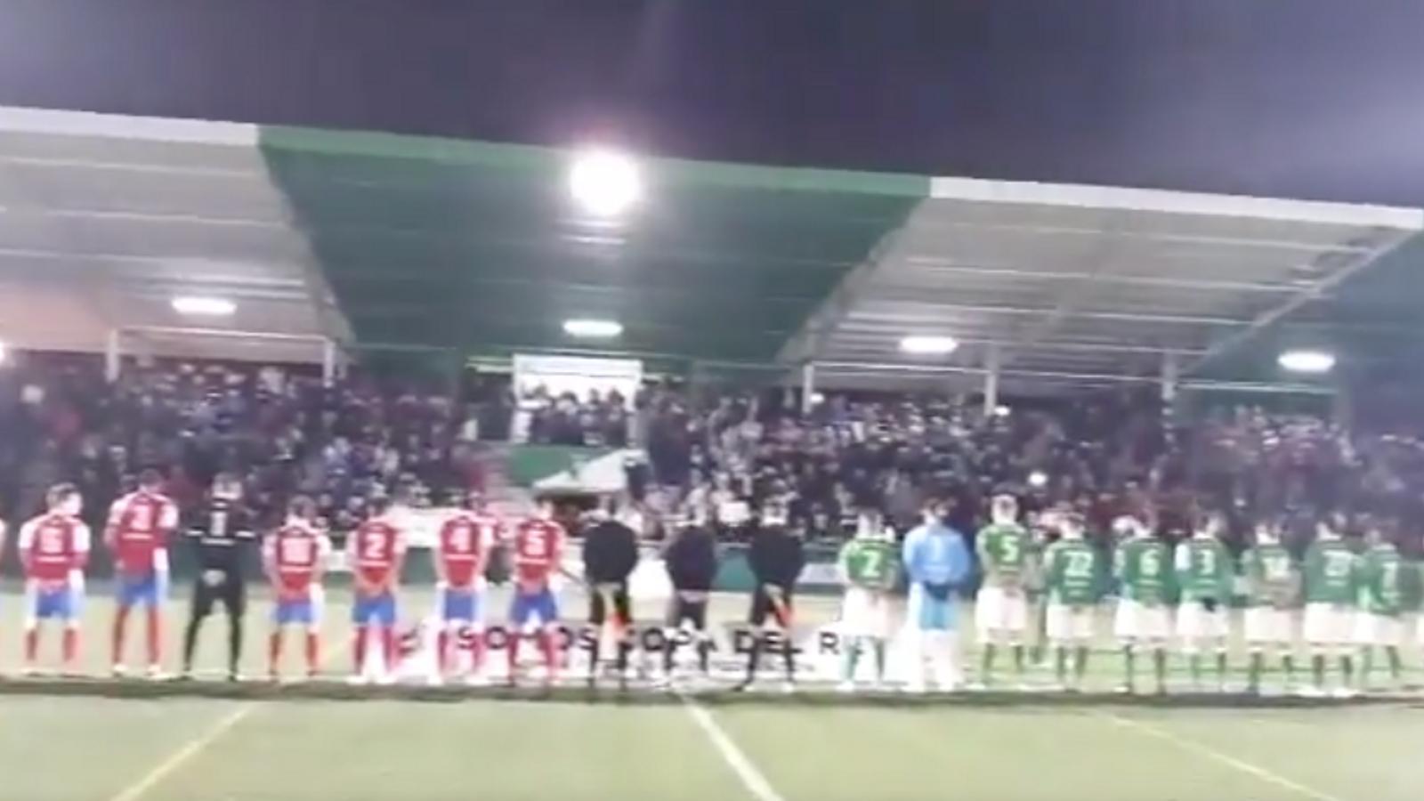 Sona l'himne franquista en el camp del rival del Mallorca en la Copa del Rei