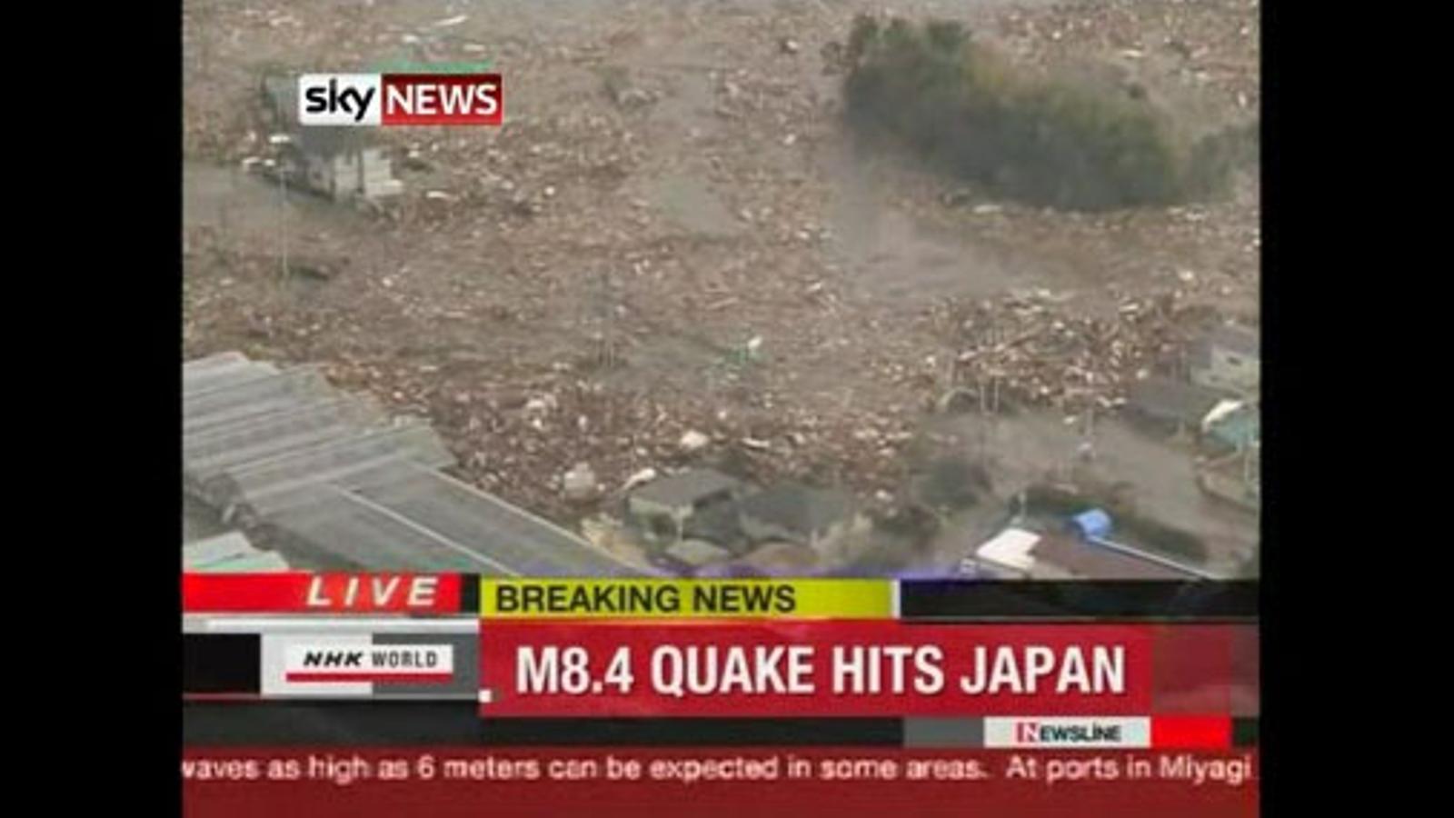 Primeres imatges del terratrèmol de 8,9 graus al Japó