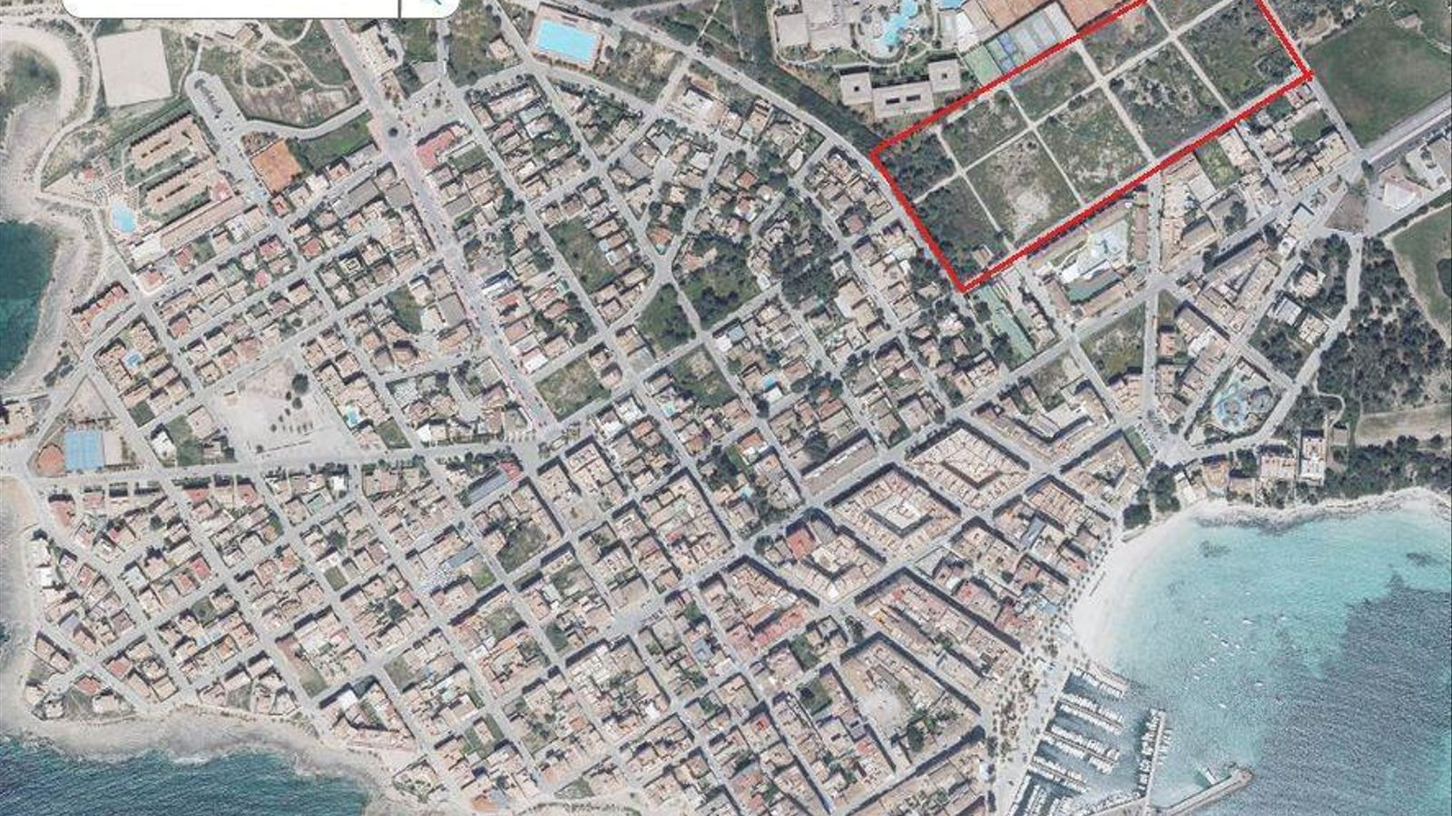 Imatge aèria de la zona que es vol construir.