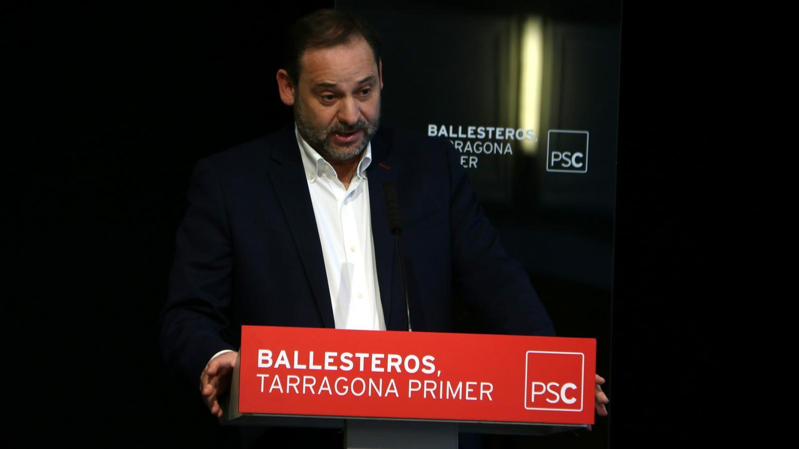 """Ábalos veu """"preferible"""" un acord amb Cs que amb els independentistes"""