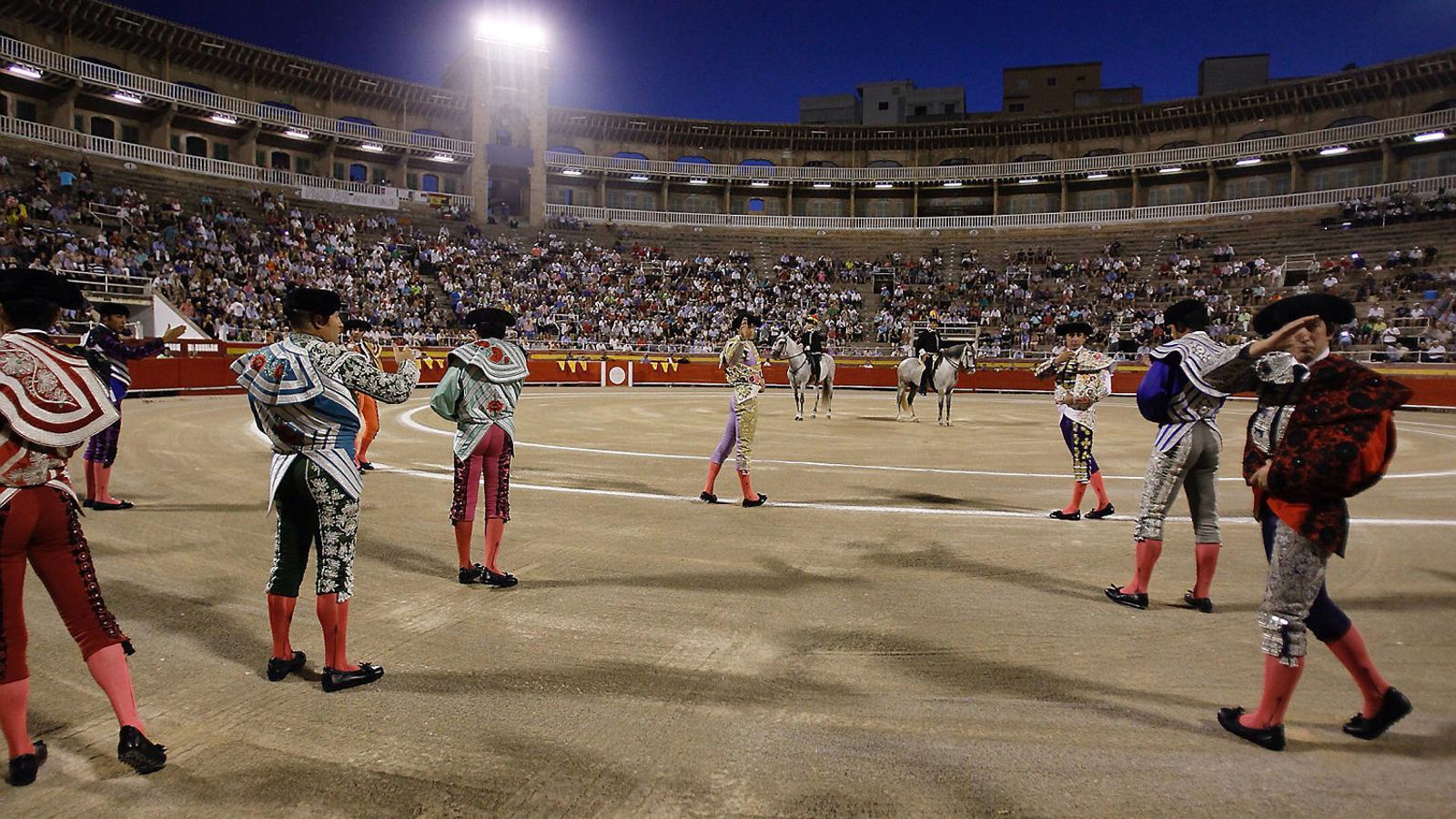 Imatge d'arxiu d'una corrida celebrada aquest estiu a Palma