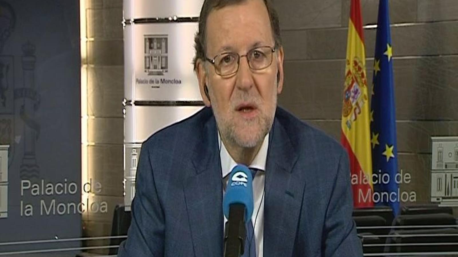 Declaracions de Rajoy sobre la possible repetició de les eleccions a Catalunya