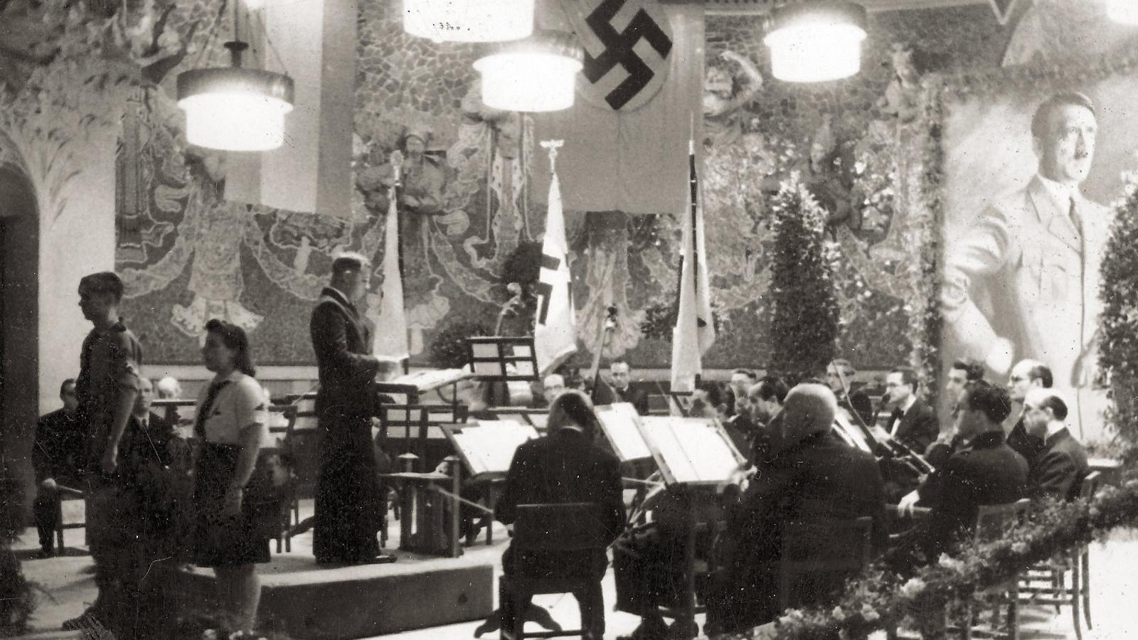 Al Palau de la Música es van celebrar els aniversaris de Hitler durant la II Guerra Mundial