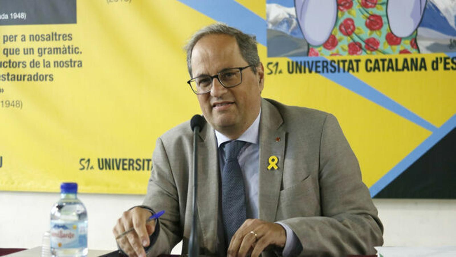 Torra es desmarca d'ERC i aposta per reobrir la confrontació amb l'Estat