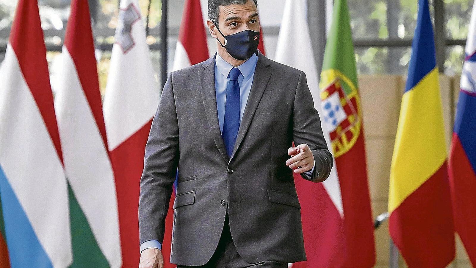 Pedro Sánchez, president del govern espanyol, ahir a Brussel·les.