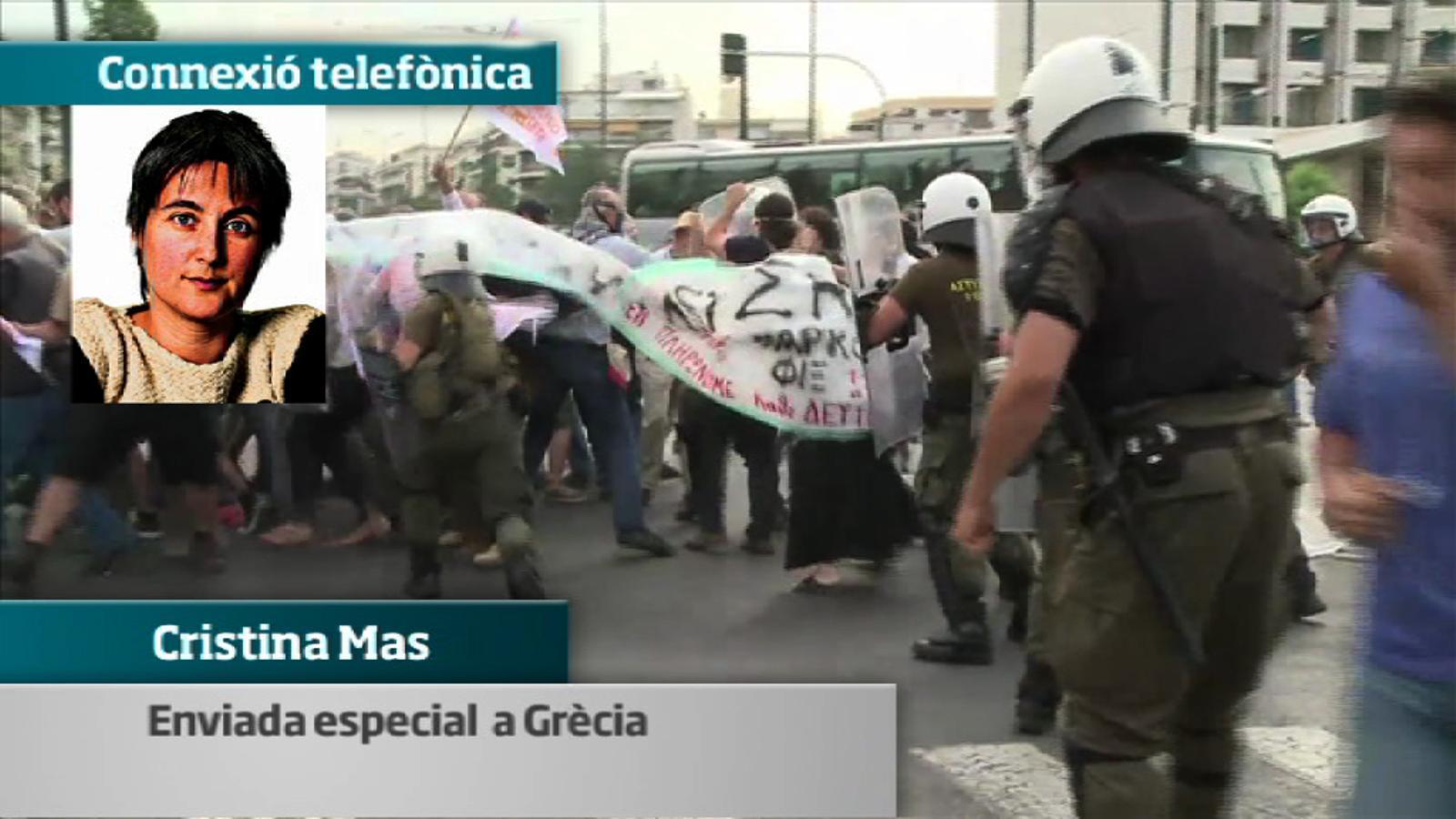 Un 'indignat' grec a l'enviada especial de l'ARA: No podem dir el que pensem públicament. No  som lliures.