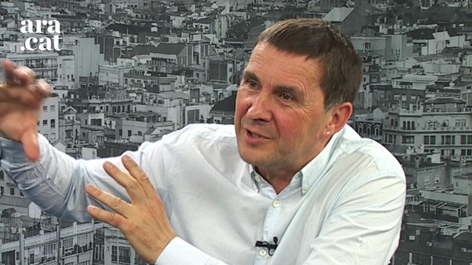 """Otegi: """"Podem té el mateix problema que el PNB: alimenta l'esperança de democratitzar l'Estat"""""""
