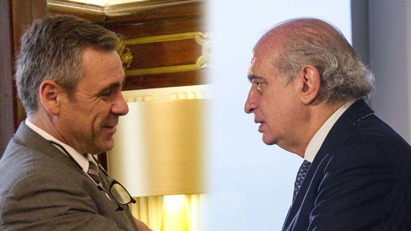 Daniel de Alfonso i Jorge Fernández Díaz, en dues fotos d'arxiu