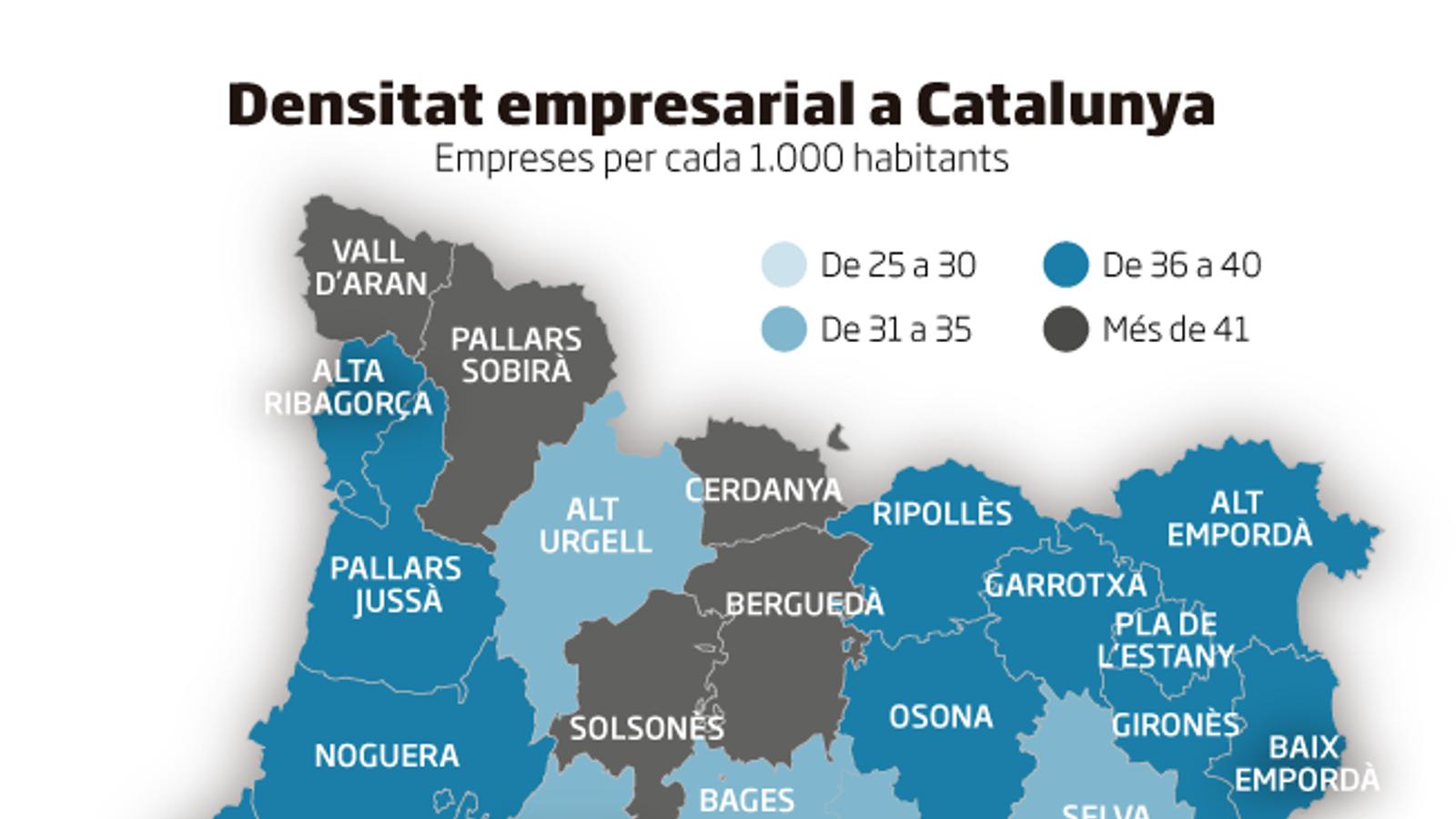 L'Aran i l'Alt Pirineu,  líders en densitat d'empreses