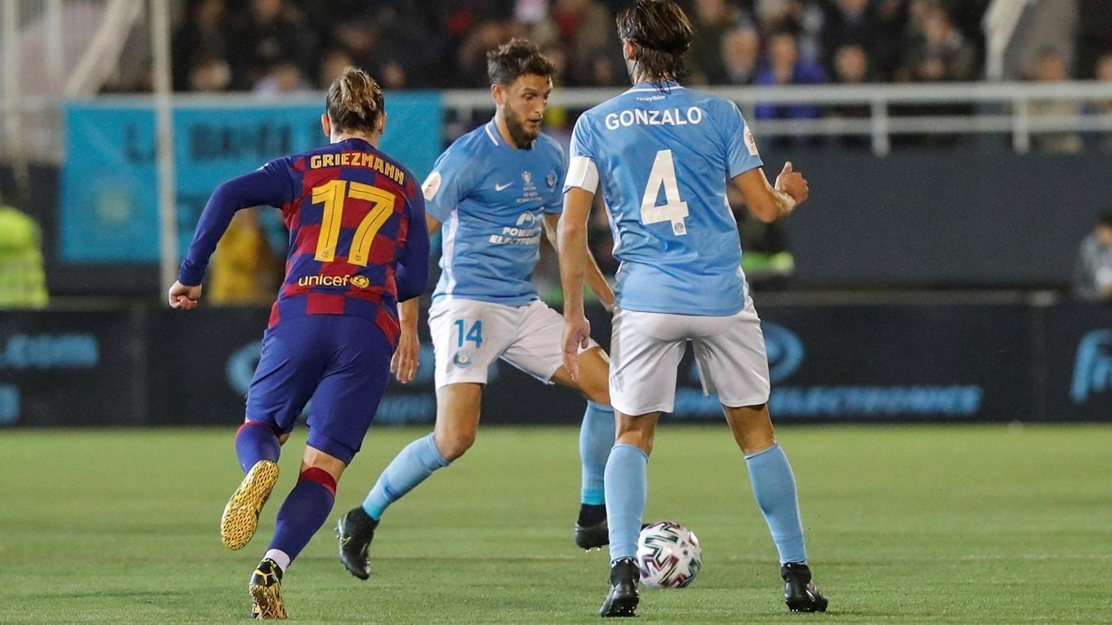 Griezmann ha fet els dos gols del Barça que han eliminat l'Eivissa a la Copa