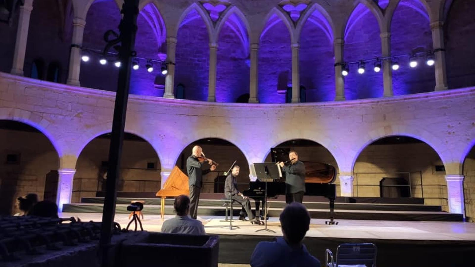 Imatge d'un dels concerts al Castell de Bellver, dins el cicle 'Sonam per tu'