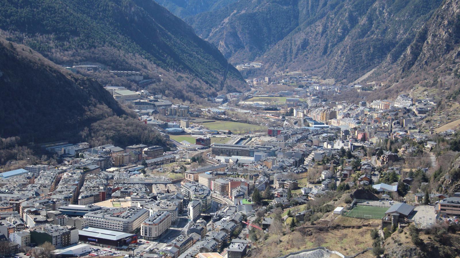 Vista de la parròquia d'Andorra la Vella / D.R.