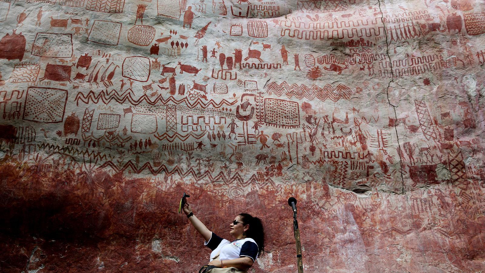 Pintures prehistòriques a Cerro Azul, Colòmbia
