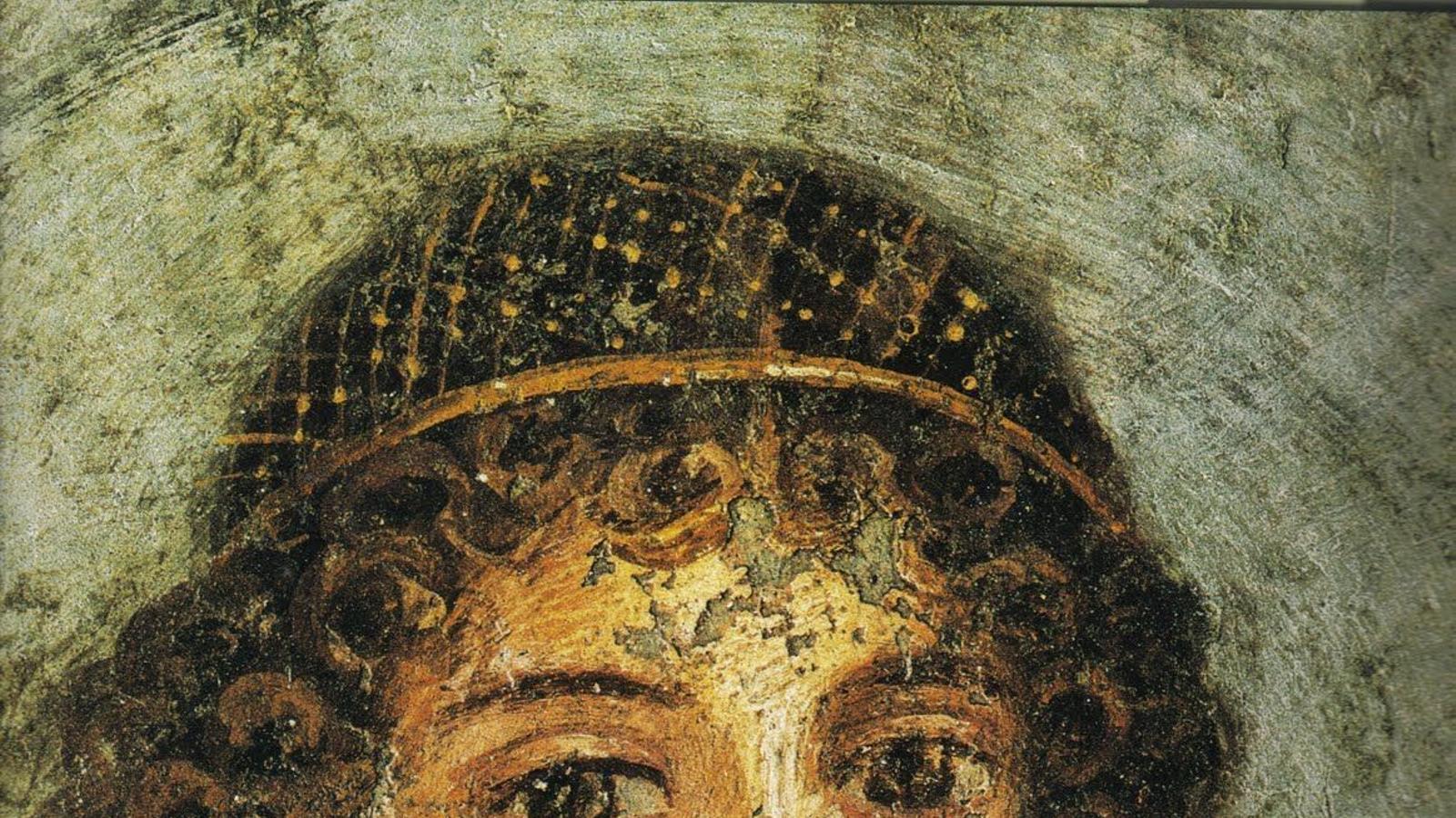 Fresc de Pompeia on es veu una jove escriptora de l'alta societat