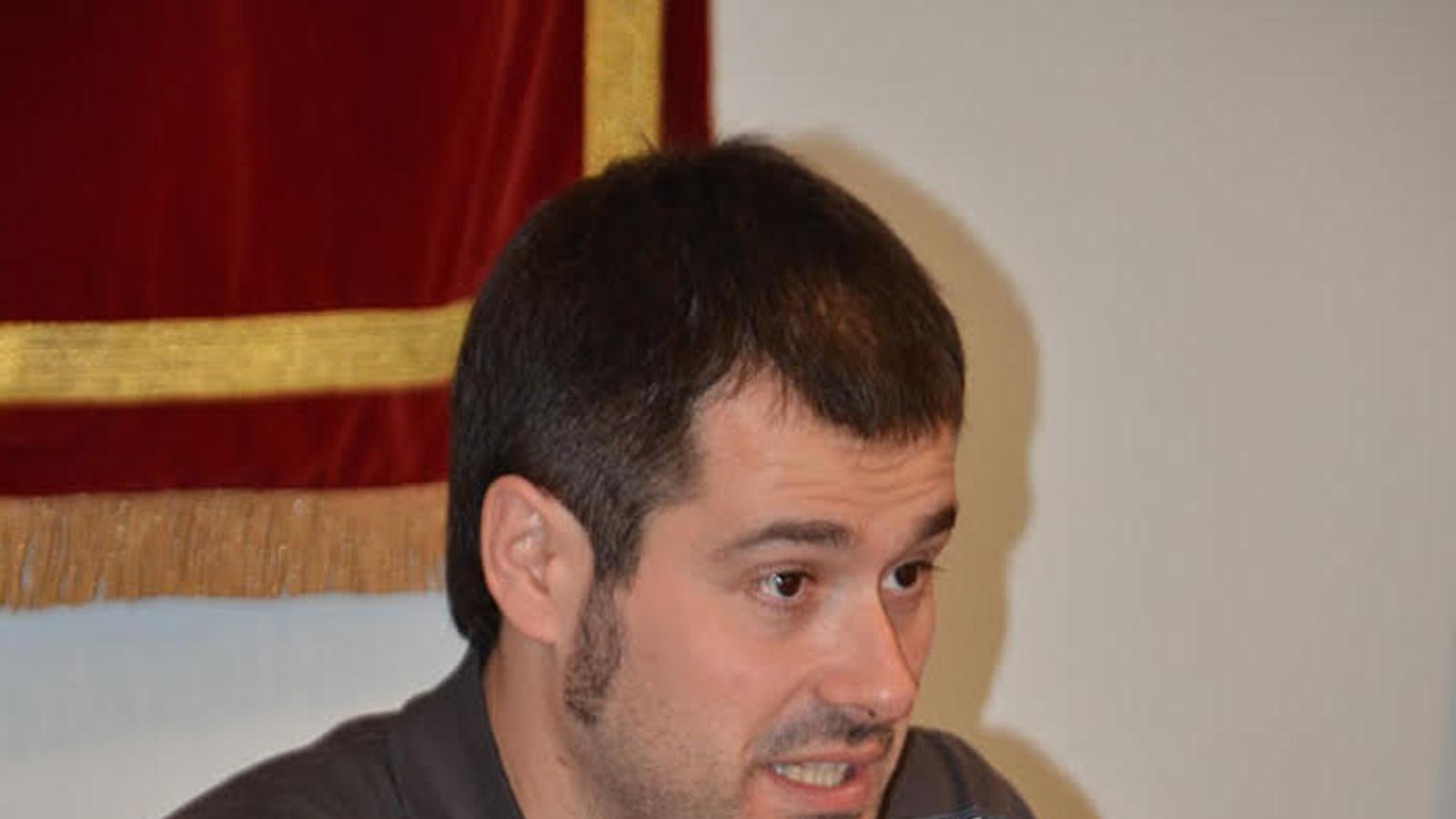 Carles Escolà, el dia de la seva investidura com a alcalde de Cerdanyola