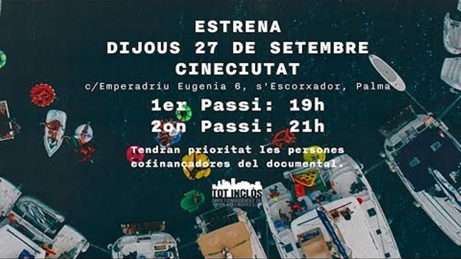 Tràiler del documental 'Tot Inclòs. Danys i conseqüències del turisme a les Illes Balears'