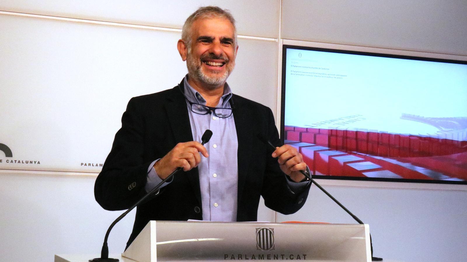 El portaveu de Cs al Parlament, Carlos Carrizosa, aquest dimarts en roda de premsa
