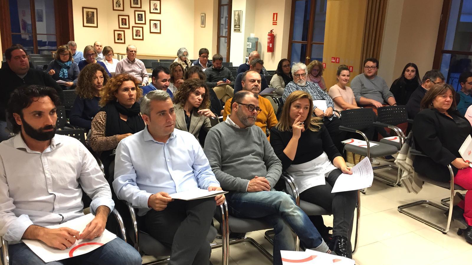 Reunió del Consell Polític dels socialistes de Mallorca.