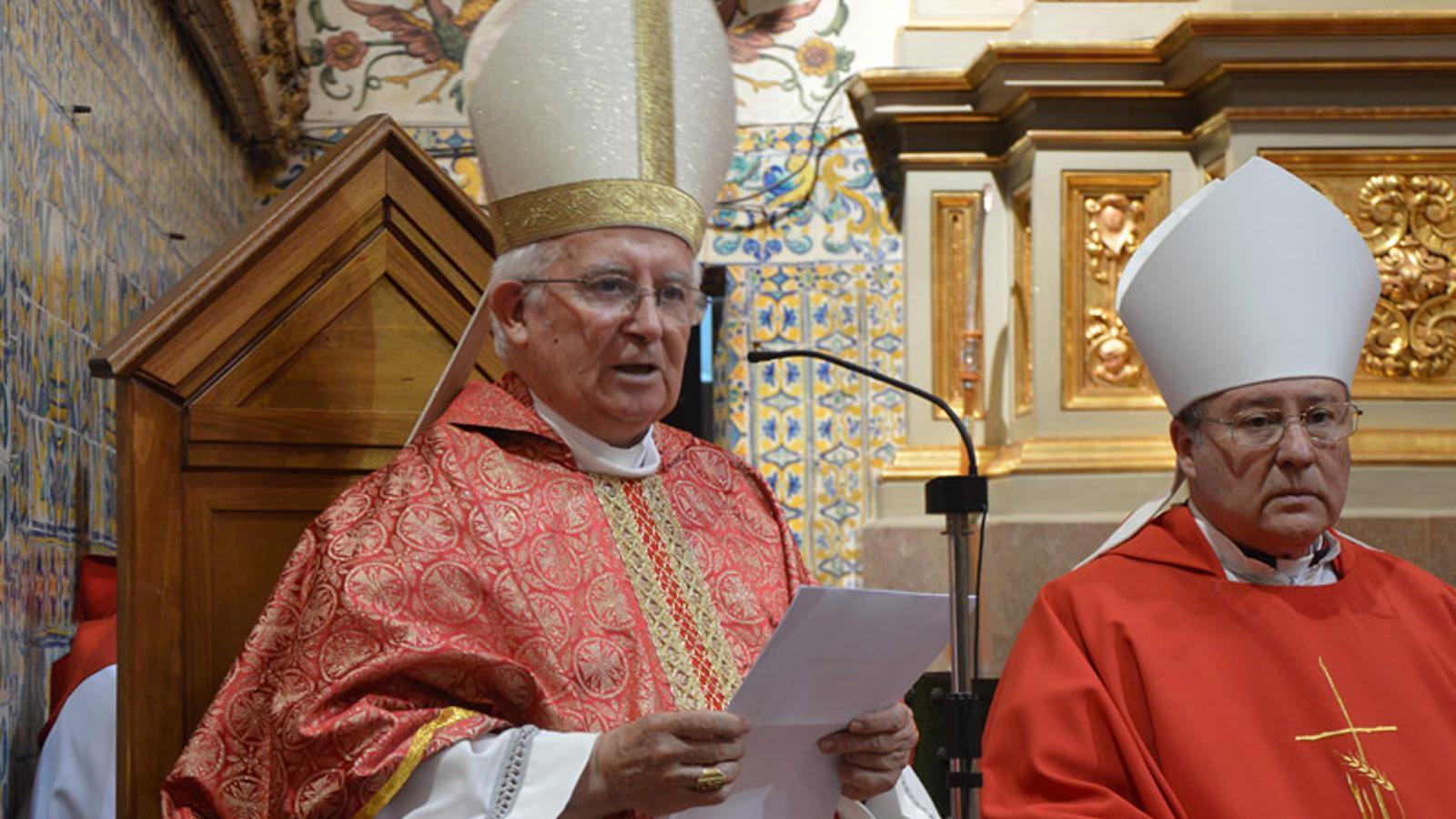 El cardenal i arquebisbe de València, Antonio Cañizares, durant l'obertura del curs acadèmic de la Universitat Catòlica de València / ARQUEBISBAT DE VALÈNCIA