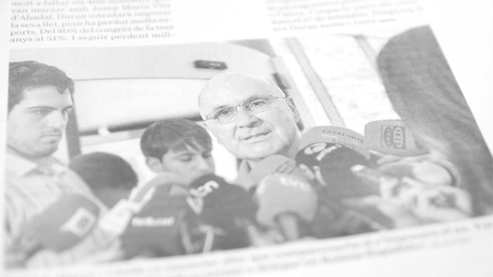 L'editorial d'Antoni Bassas: Una pregunta per a Duran (15/06/2015)