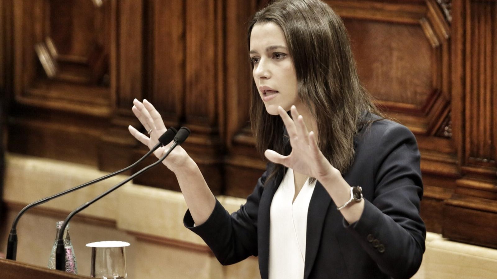 Inés Arrimadas en el segon debat d'investidura / PERE VIRGILI