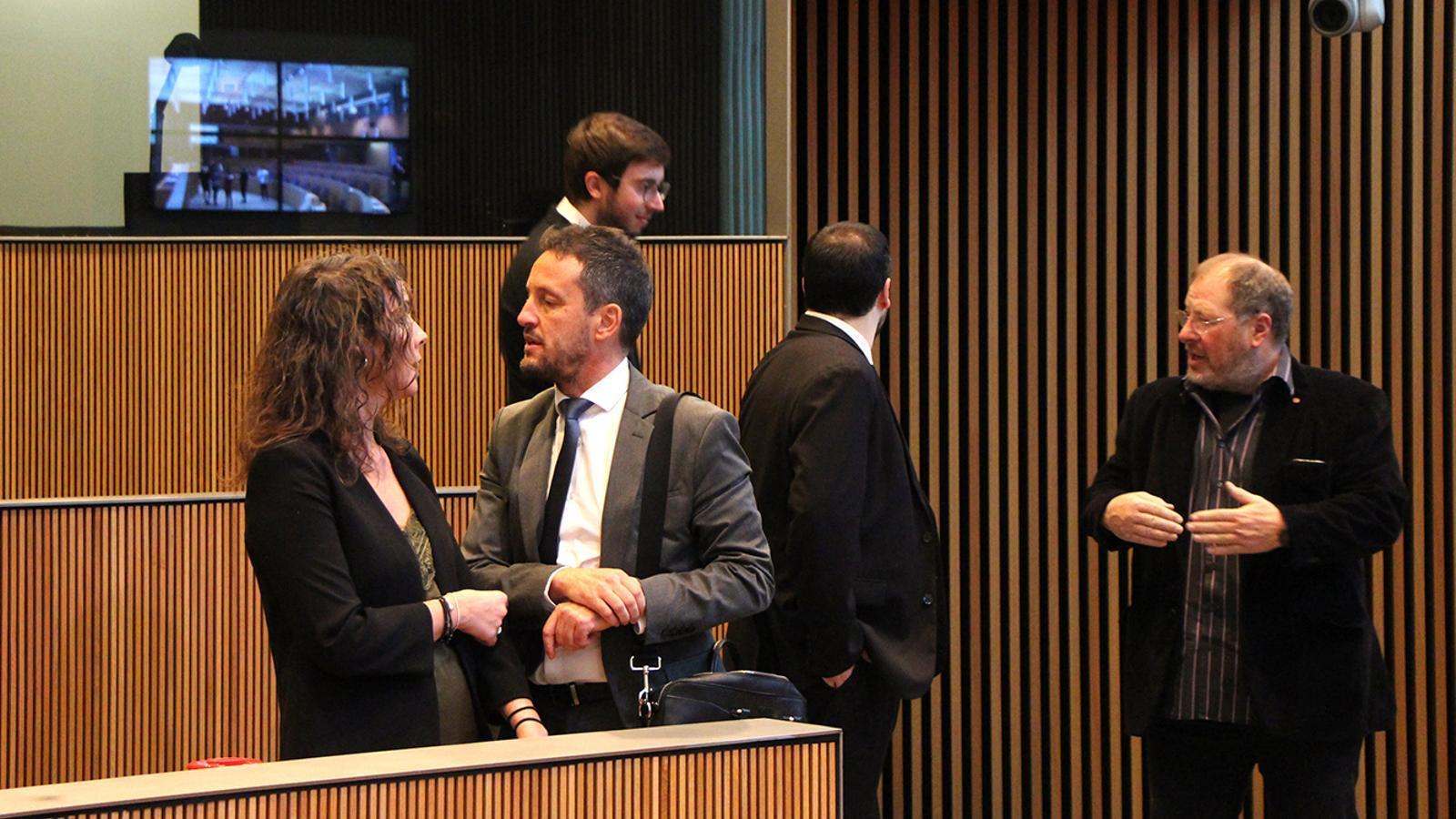 Consellers del grup parlamentari socialdemòcrata moments abans de la sessió de Consell General. / M. F. (ANA)