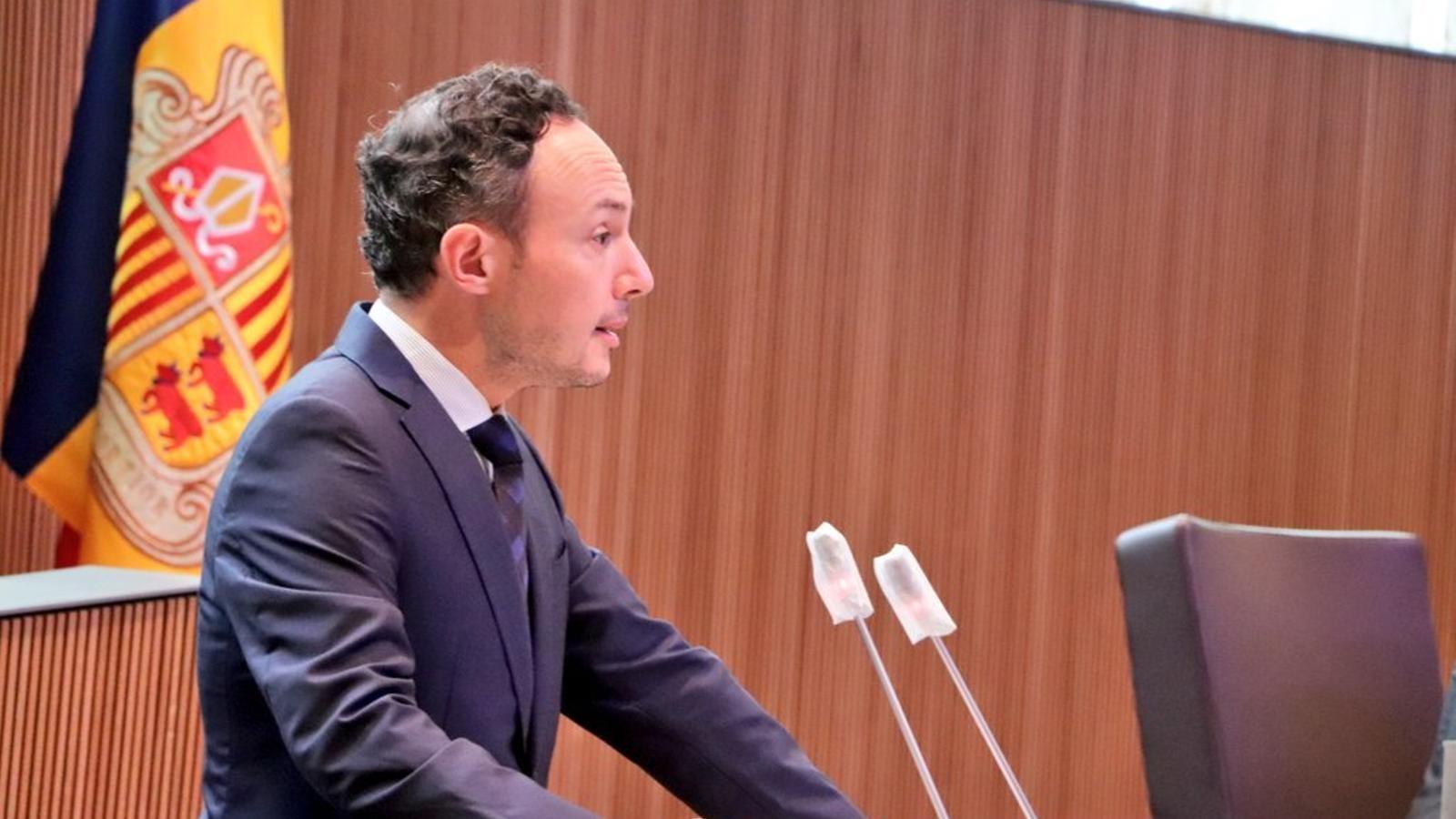 El cap de Govern, Xavier Espot, aquest dimecres al Consell General durant el debat d'orientació política / ATV