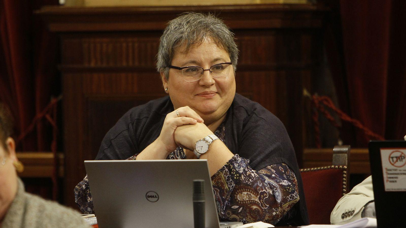 La diputada de Podem, Montse Seijas, en imatge d'arxiu, al Parlament.