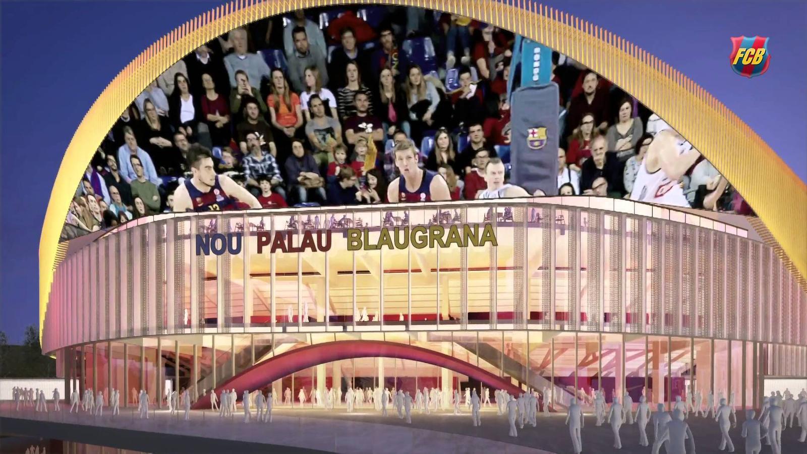 El nou palau blaugrana aixeca el vol for Puerta 0 palau blaugrana