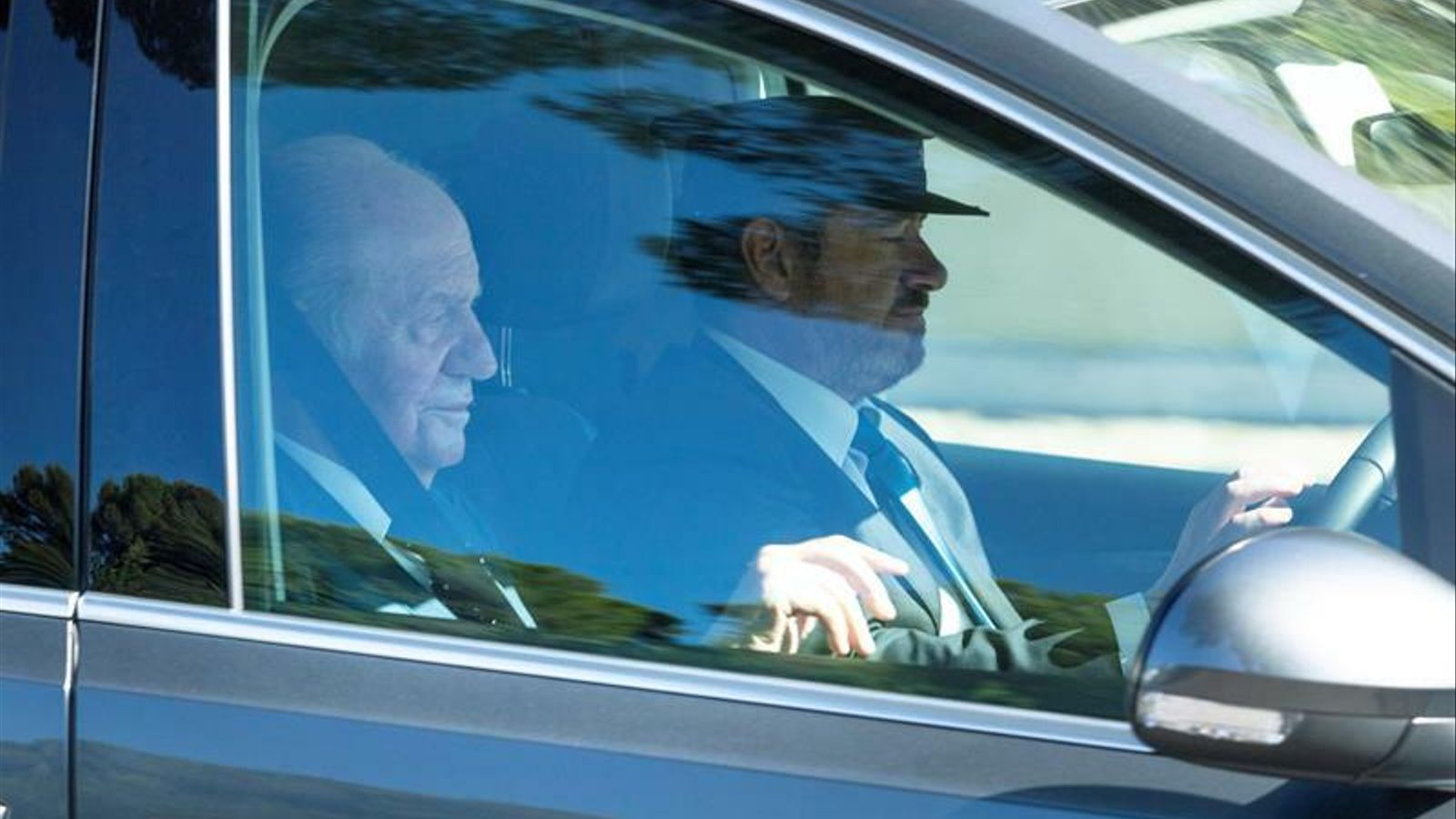 El rei emèrit Joan Carles arriba la Fortalesa de Pollença