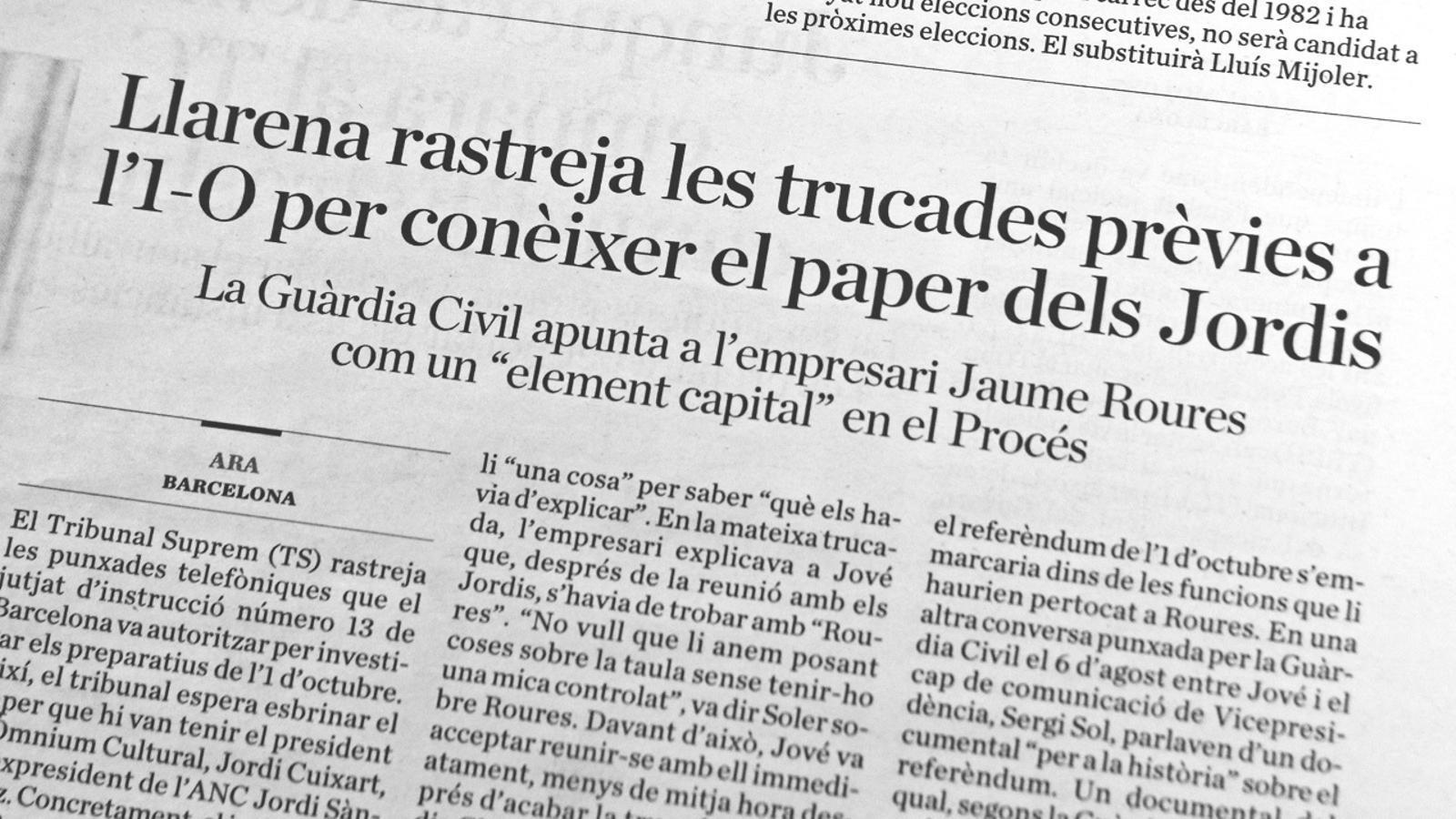 """L'anàlisi d'Antoni Bassas: """"Roures i l'enaltiment de l'1 d'octubre"""""""