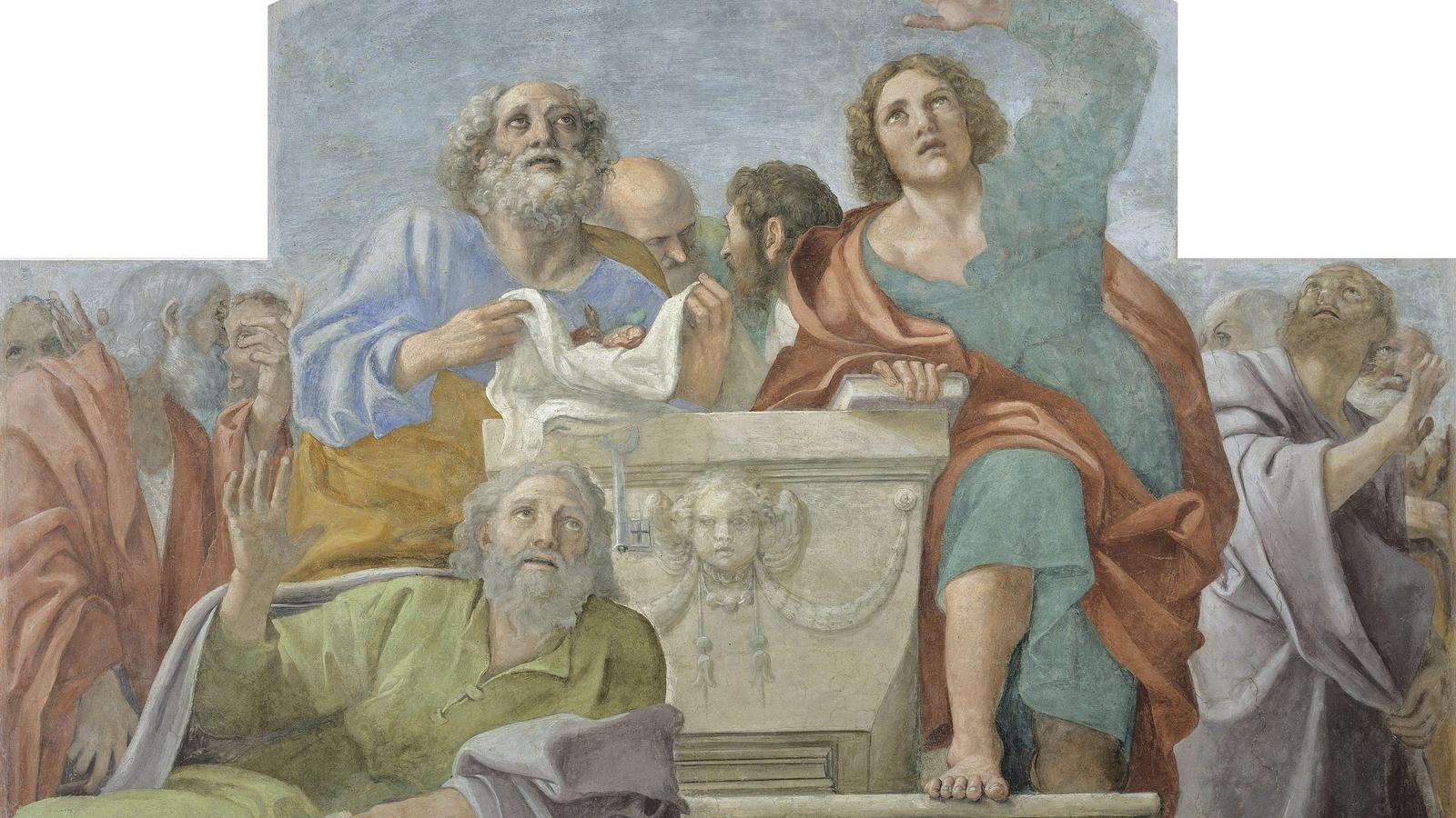 ' Apòstols al voltant del sepulcre buit', d'Annibale Carracci  i F. Albani, per a la Capella Herrera