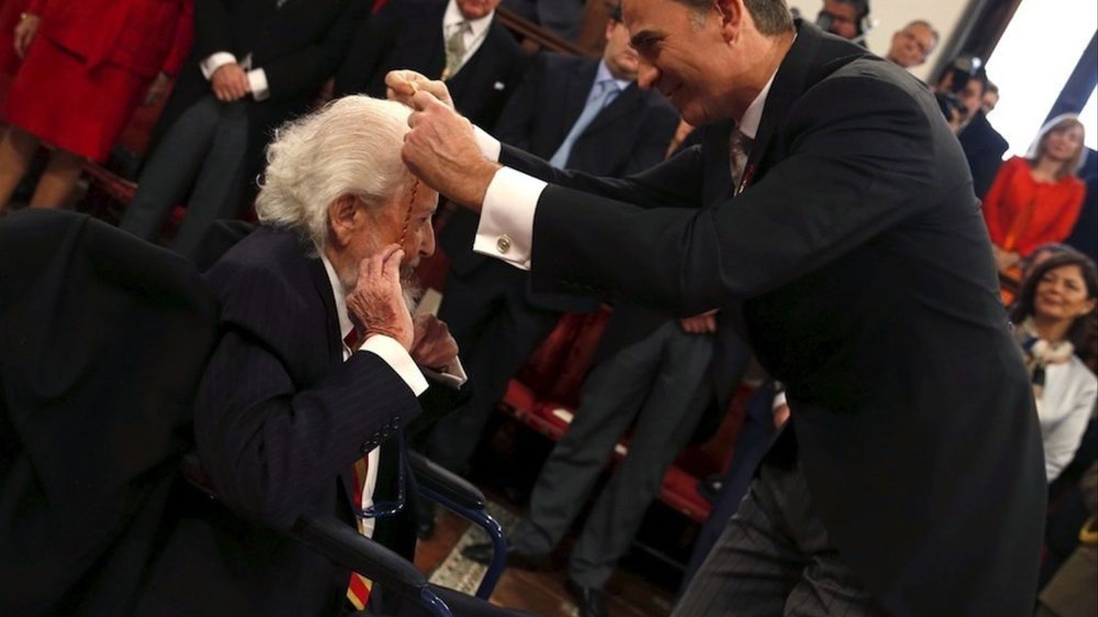 Fernando del Paso, durant la concessió del premi Cervantes 2015
