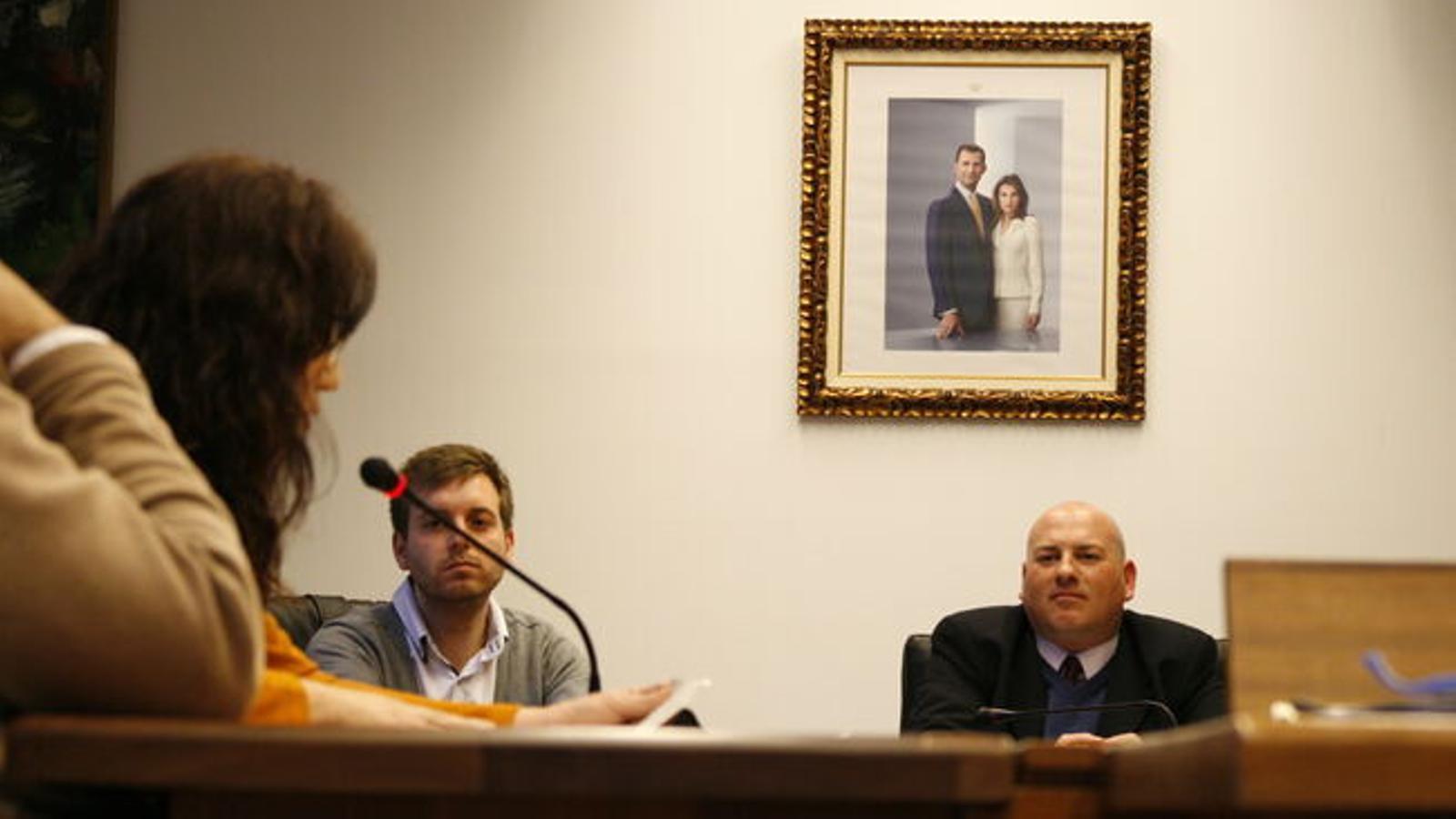 Pepa Ramis intervenint durant la pressa de possessió de Víctor Martí. / M. B.