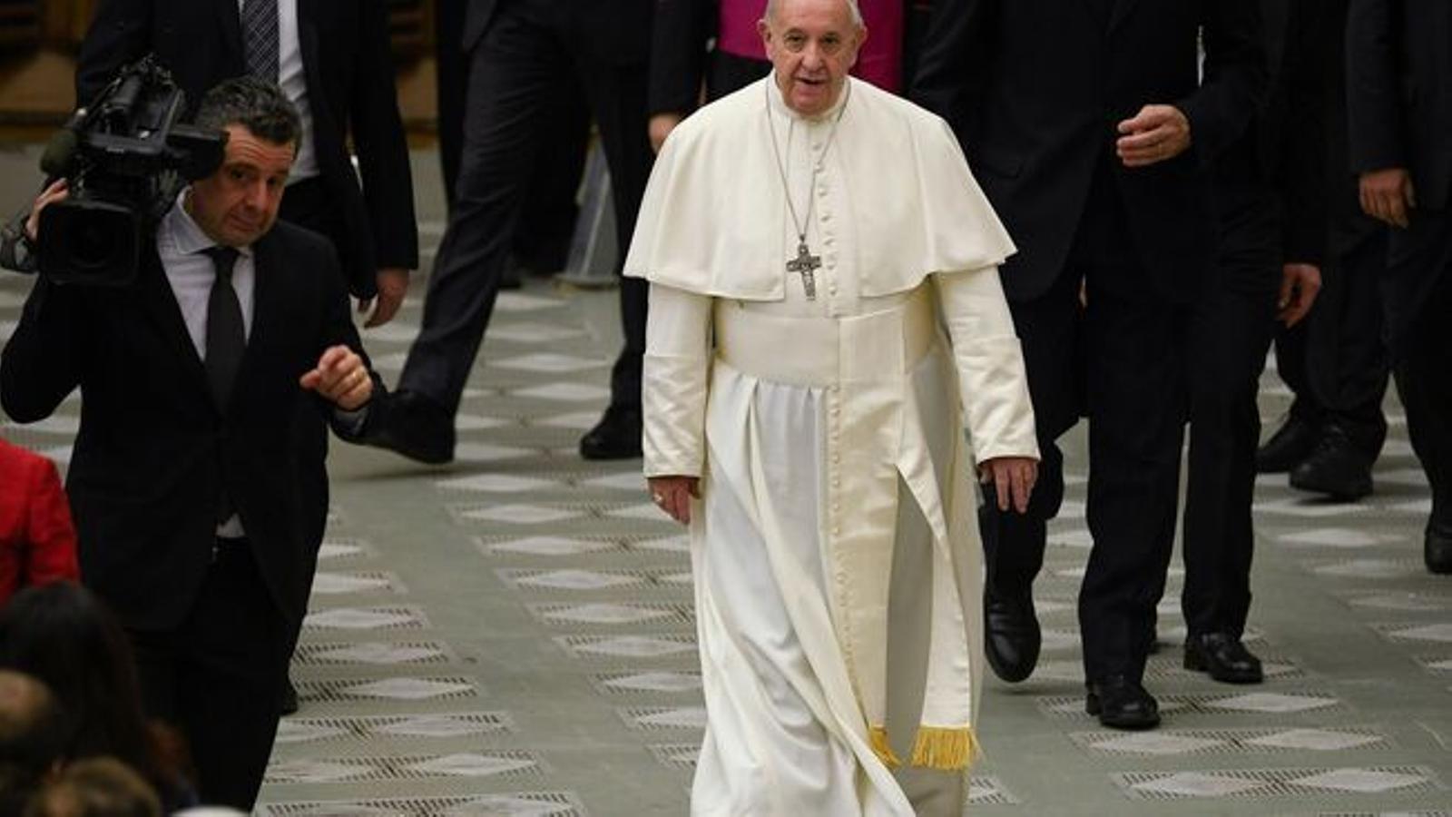 El Papa Francesc, en una imatge d'arxiu / Filippo MONTEFORTE / AFP