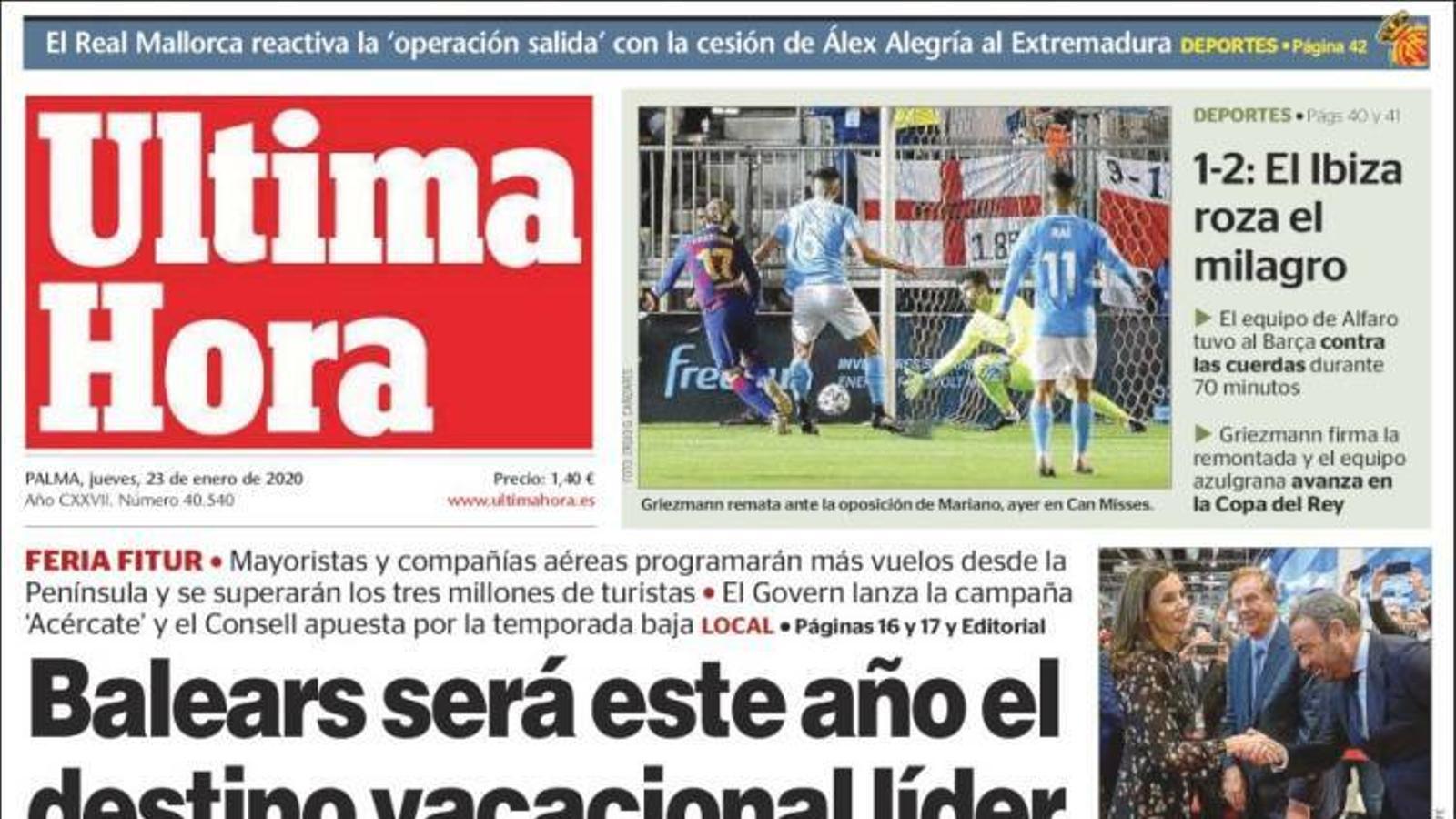 """""""El Suprem s'inclina per deixar Torra sense escó en contra del fiscal"""", la portada d''El Mundo'"""