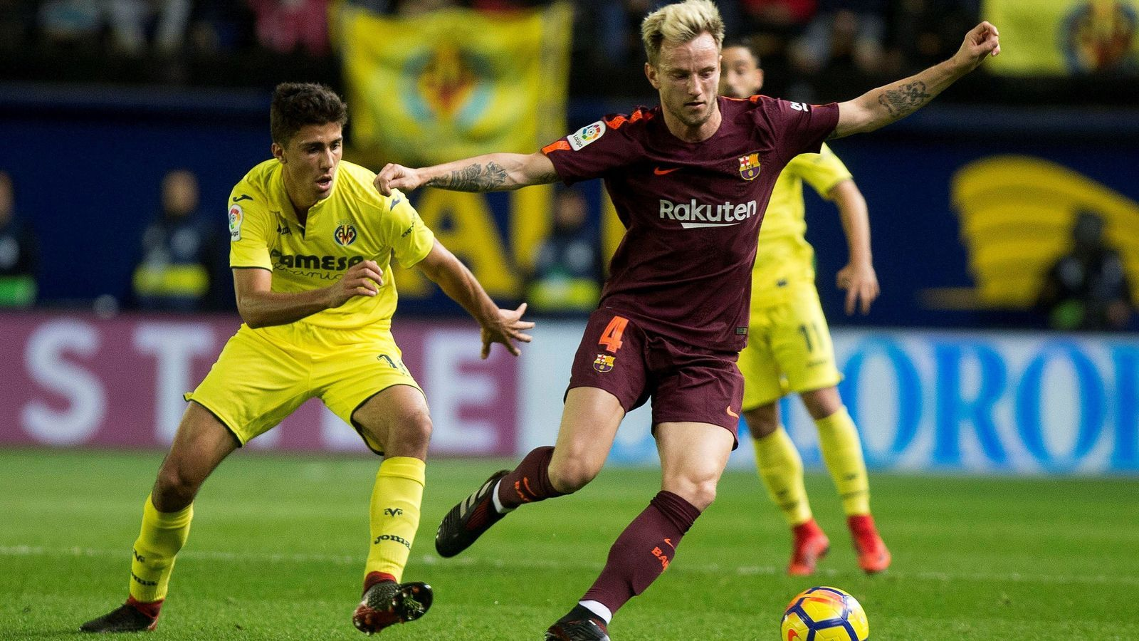 Ivan Rakitic, en el partit de diumenge passat contra el Vila-real al Madrigal