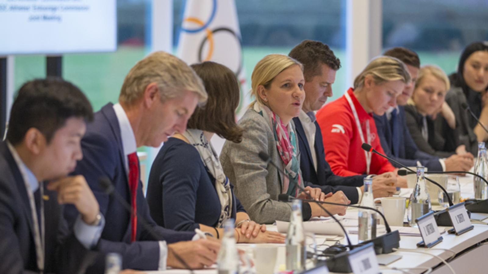 Una reunió de la comissió d'esportistes del Comitè Olímpic Internacional