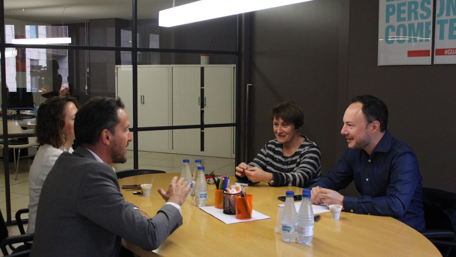 La reunió entre Demòcrates i el PS. / DEMÒCRATES