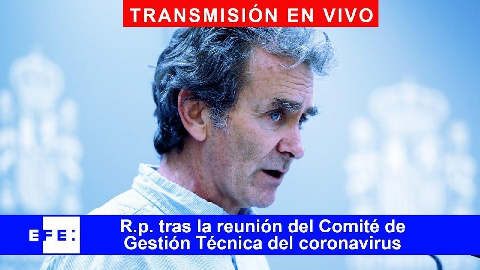 Roda de premsa després del Comitè de Gestió Tècnica del Coronavirus