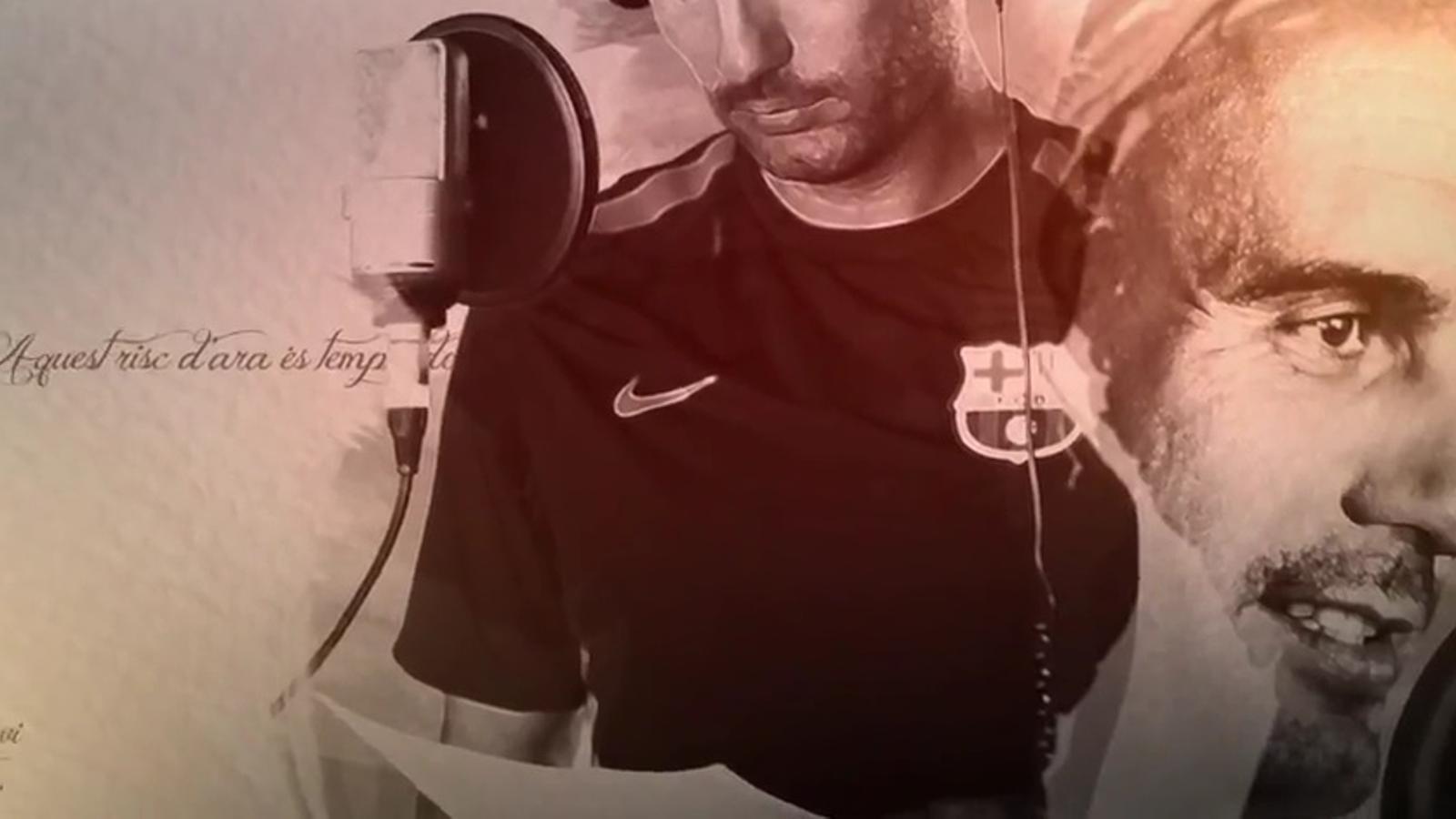Guardiola canta al 'Tribut de sorra i fulles' de l'Editorial Mediterrània