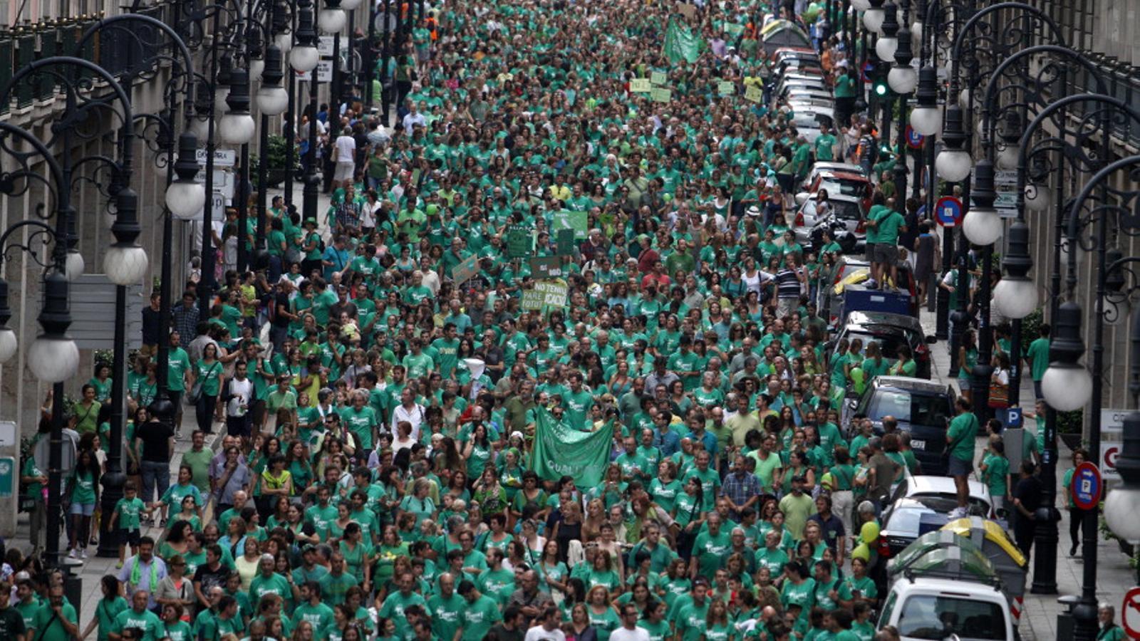 La multitudinària manifestació del #29s, en dos minuts