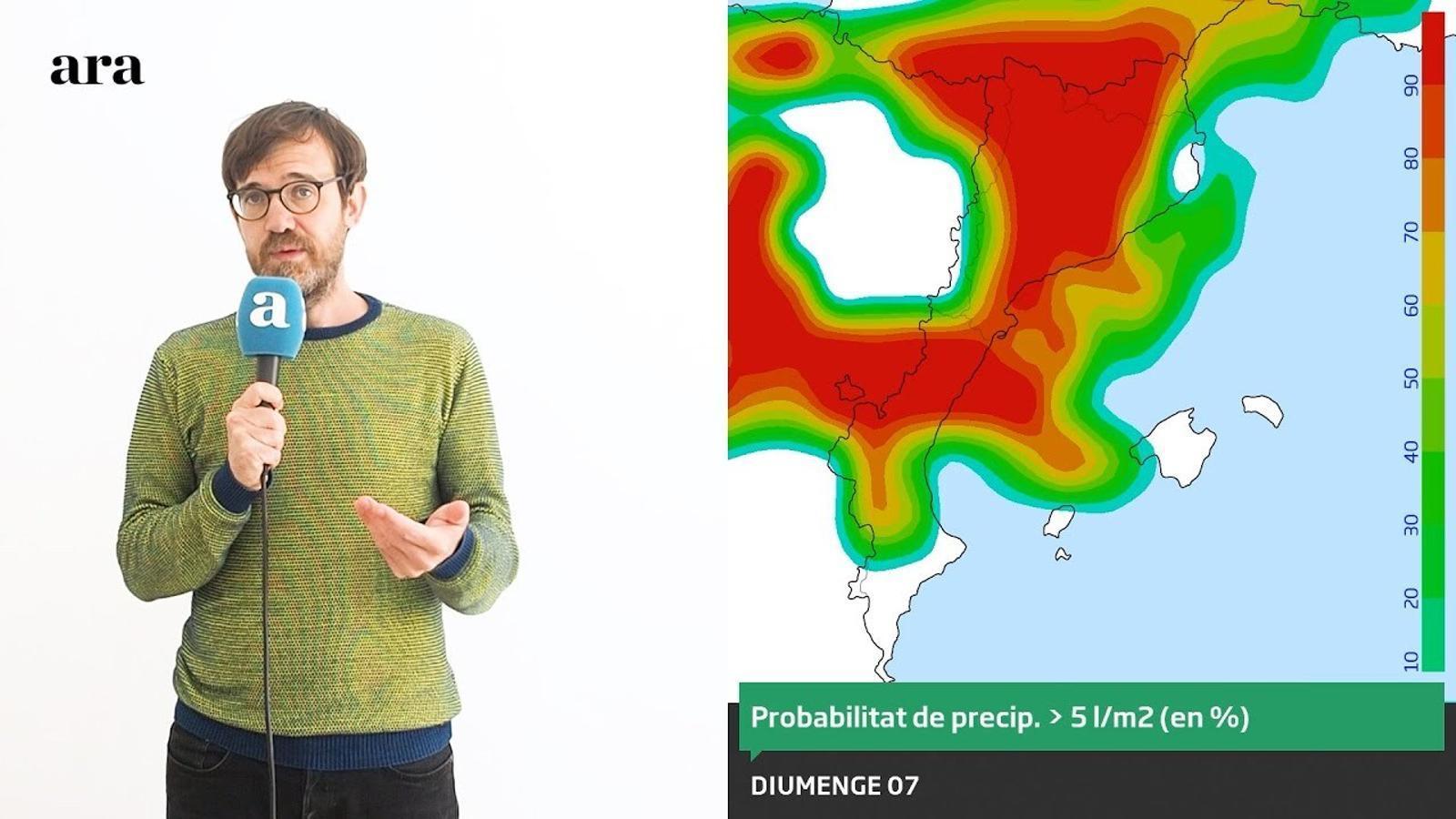 La méteo: les tempestes tornaran durant el cap de setmana