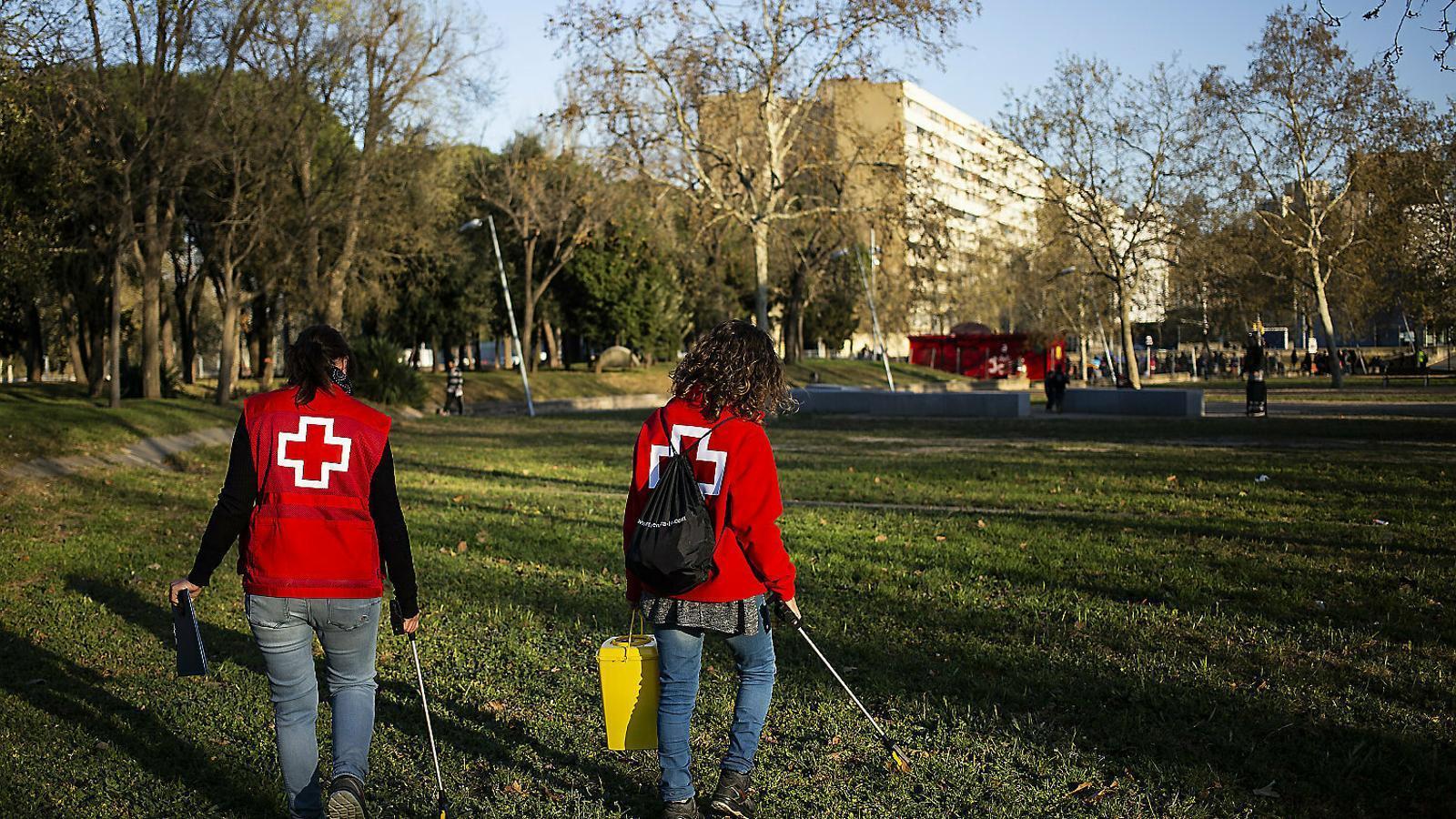 Servei de vigilància al parc del Besòs per reduir la presència de xeringues
