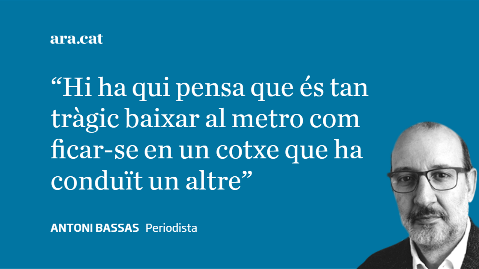 El metro de Joan Gaspart i el comiat d'Avancar